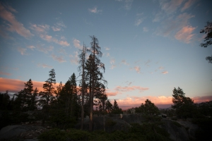 We were welcomed by an amazing Sierra sunset.