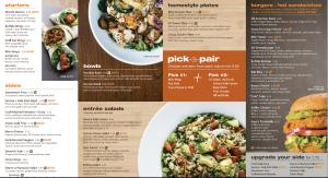 Veggie Grill's new menu.