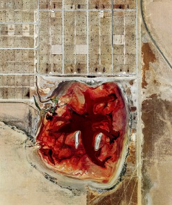 This feedlot lagoon is Coronado Feeders, located in Dalhart, Tex.