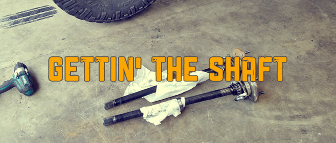 Install: Rear Axle Shafts for Jeep JK (Stock)